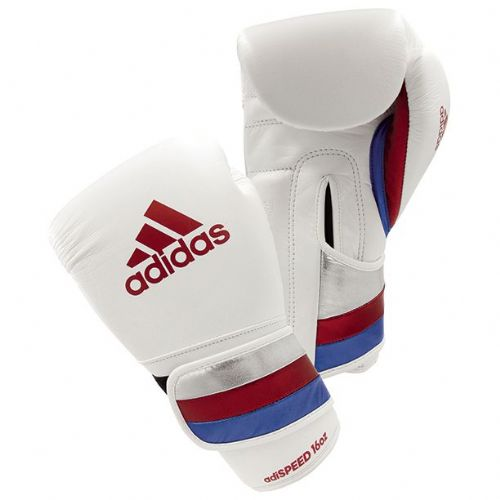 Adidas Adispeed Boxing Gloves - White/Red/Blue